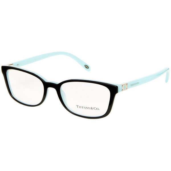 e49ad75a23 TIFFANY   CO. Black Blue 52mm Keyhole Optical Frames ❤ liked on Polyvore  featuring accessories