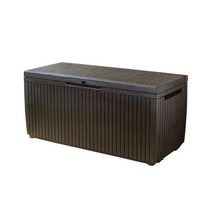 Phenomenal Keter Springwood 80 Gallon Plastic Deck Box Resin Patio Machost Co Dining Chair Design Ideas Machostcouk