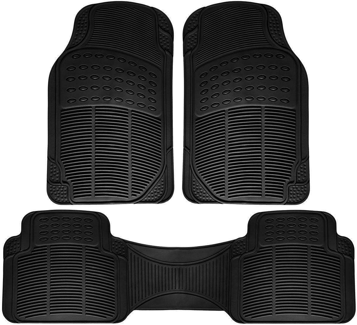 ridged mats van floor full piece duty pin car suv set oxgord heavy fit rubber truck universal
