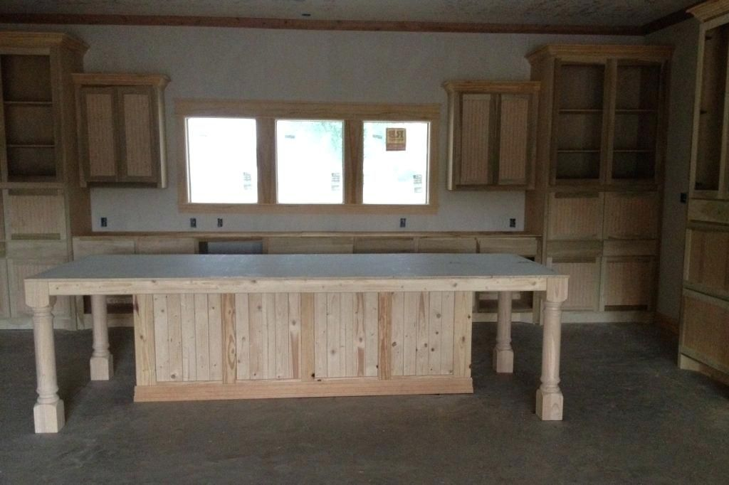 Build A Kitchen Island Using Stock Cabinets Build Kitchen
