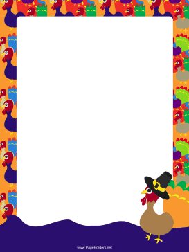 image relating to Free Printable Thanksgiving Borders named Thanksgiving Borders Turkey Flock Thanksgiving Border webpage