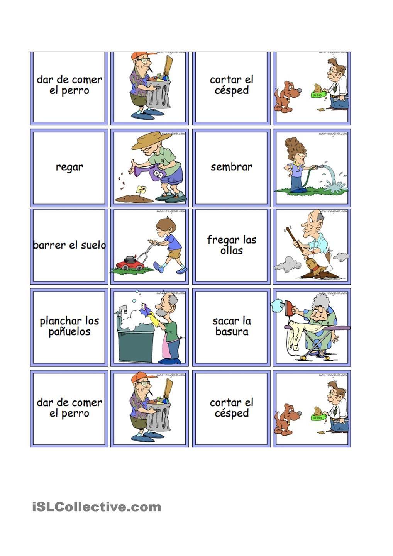 Vocabulario De Los Quehaceres