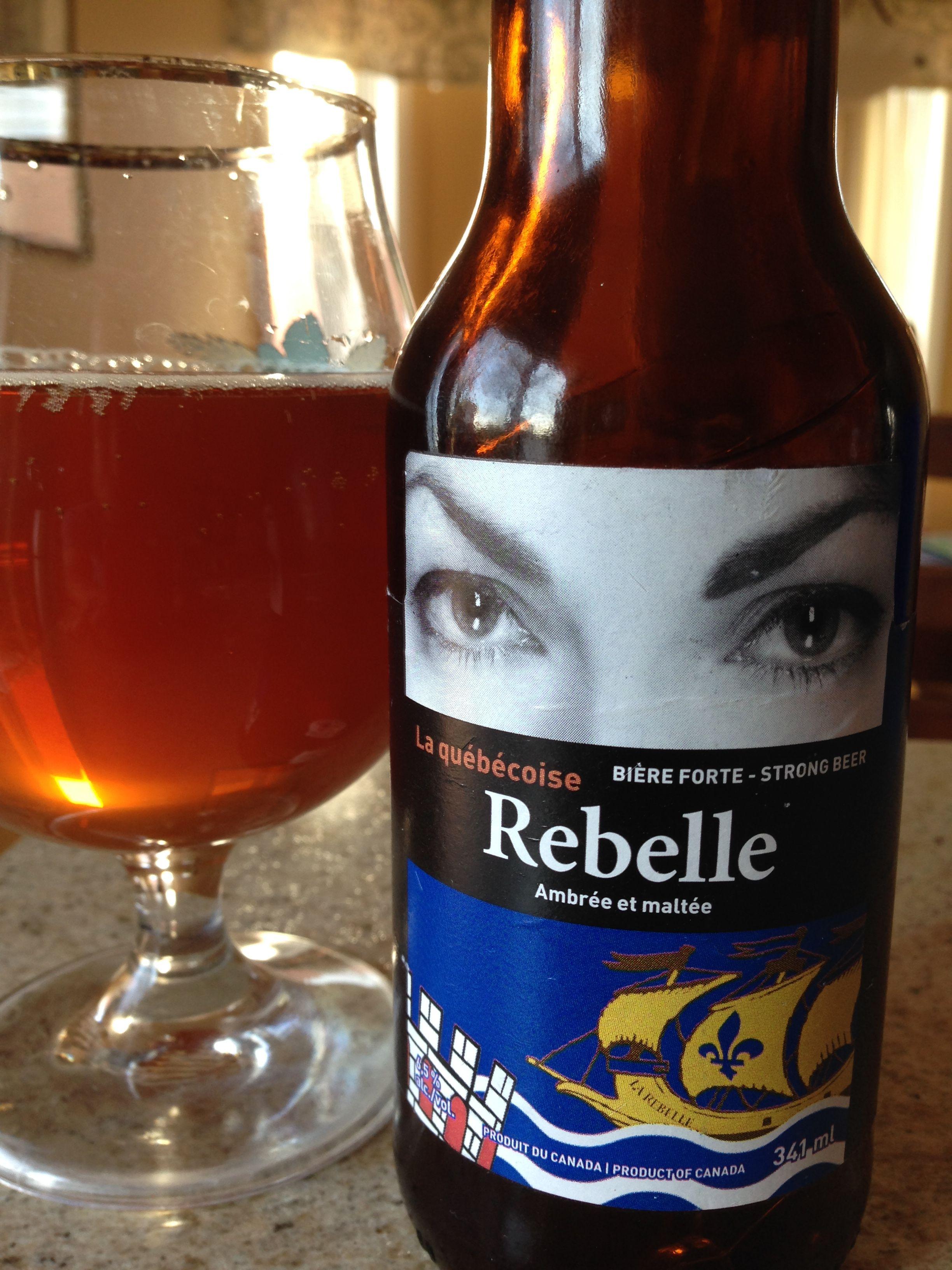 Rebelle, Brasseur de Montréal. 3⭐️sur 5.