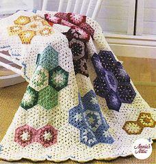 Ravelry: Grandmother's Flower Garden Afghan pattern by Susan Lowman