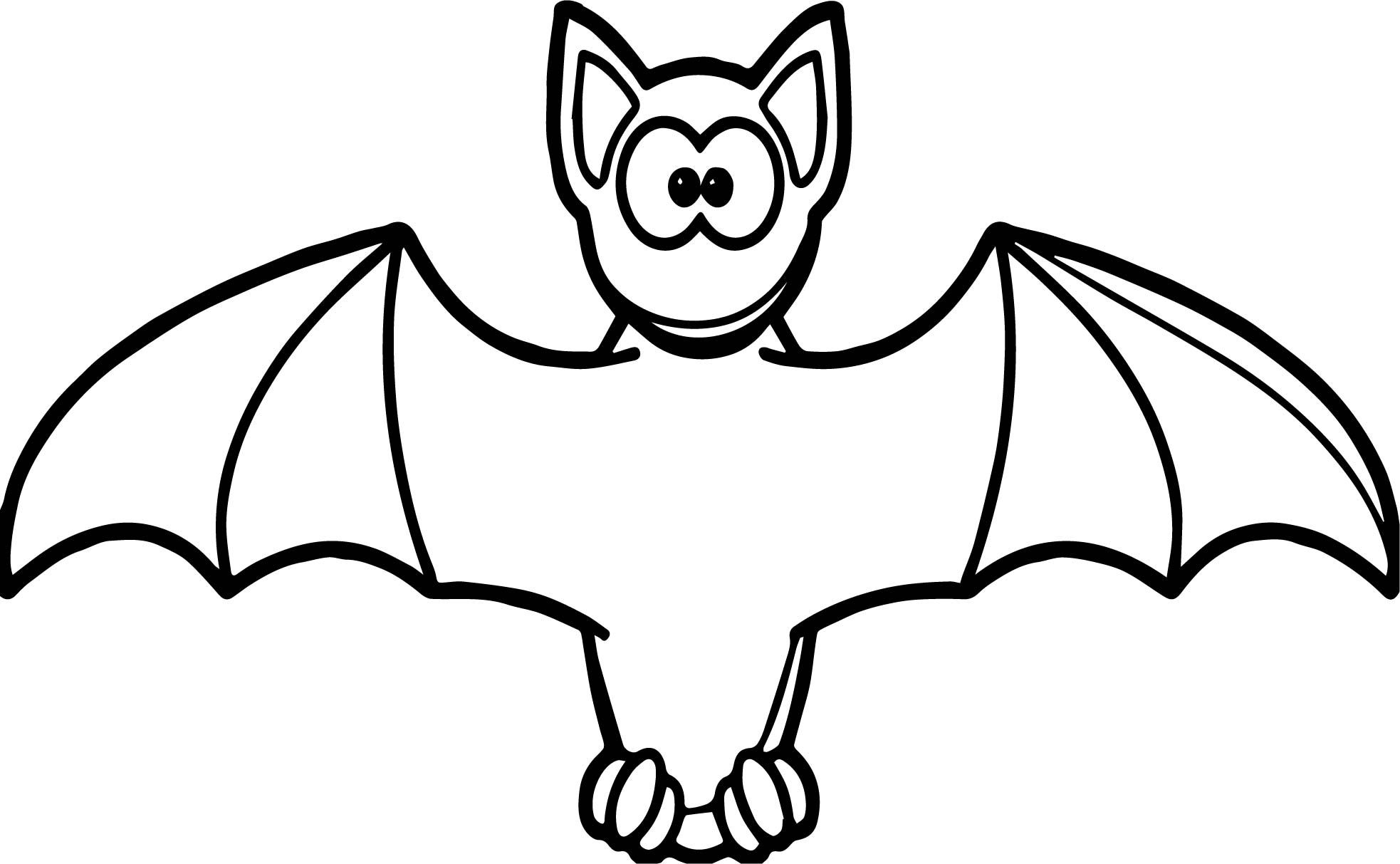 Cool Cartooon Vampire Bat Coloring Page With Images Bat
