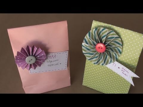 Como realizar bolsas de papel para regalo