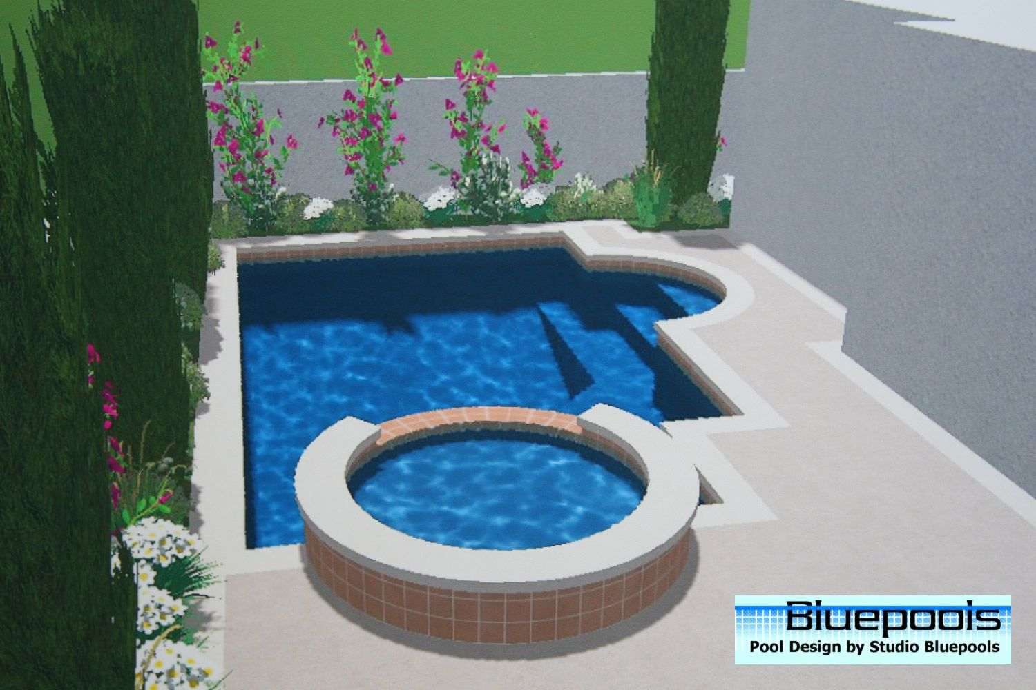 small pool designs small pool with spa - Swimming Pool And Spa Design