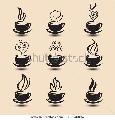 coffee cup shapes - stock vector