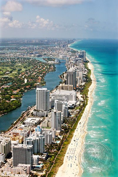 Miami Beach Coast Florida As Far