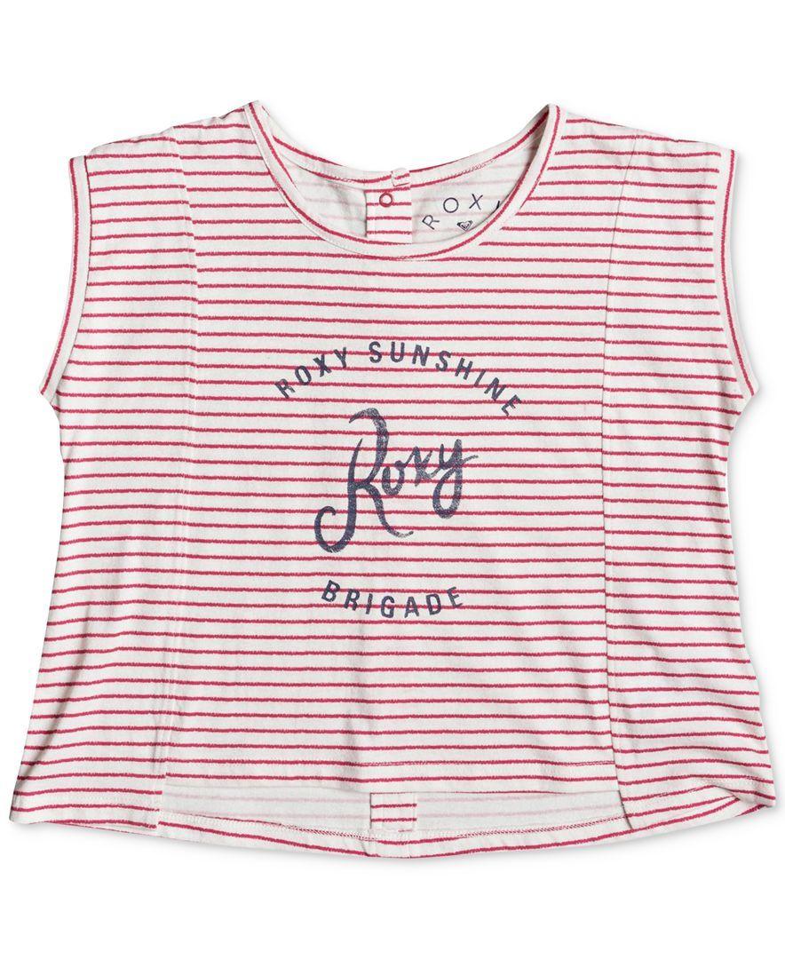 Roxy Text-Graphic Striped Cotton Tank Top, Big Girls (7-16)
