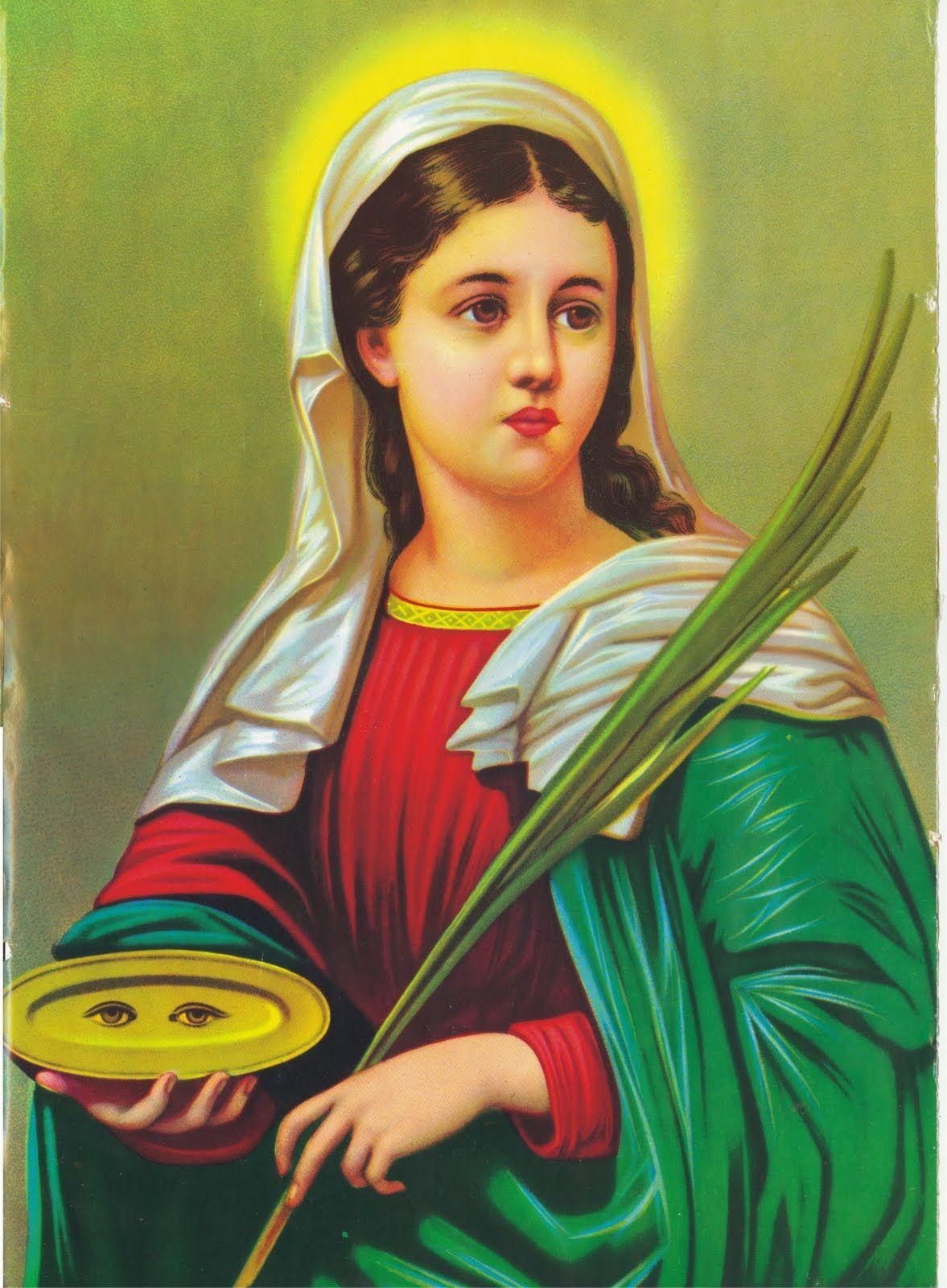 Resultado de imagem para fotos da imagem de santa luzia