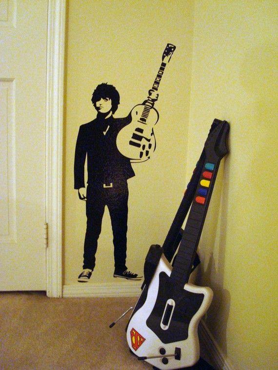 Green Day's Billie Joe Armstrong WALL ART by cutwerx on Etsy, $29.00