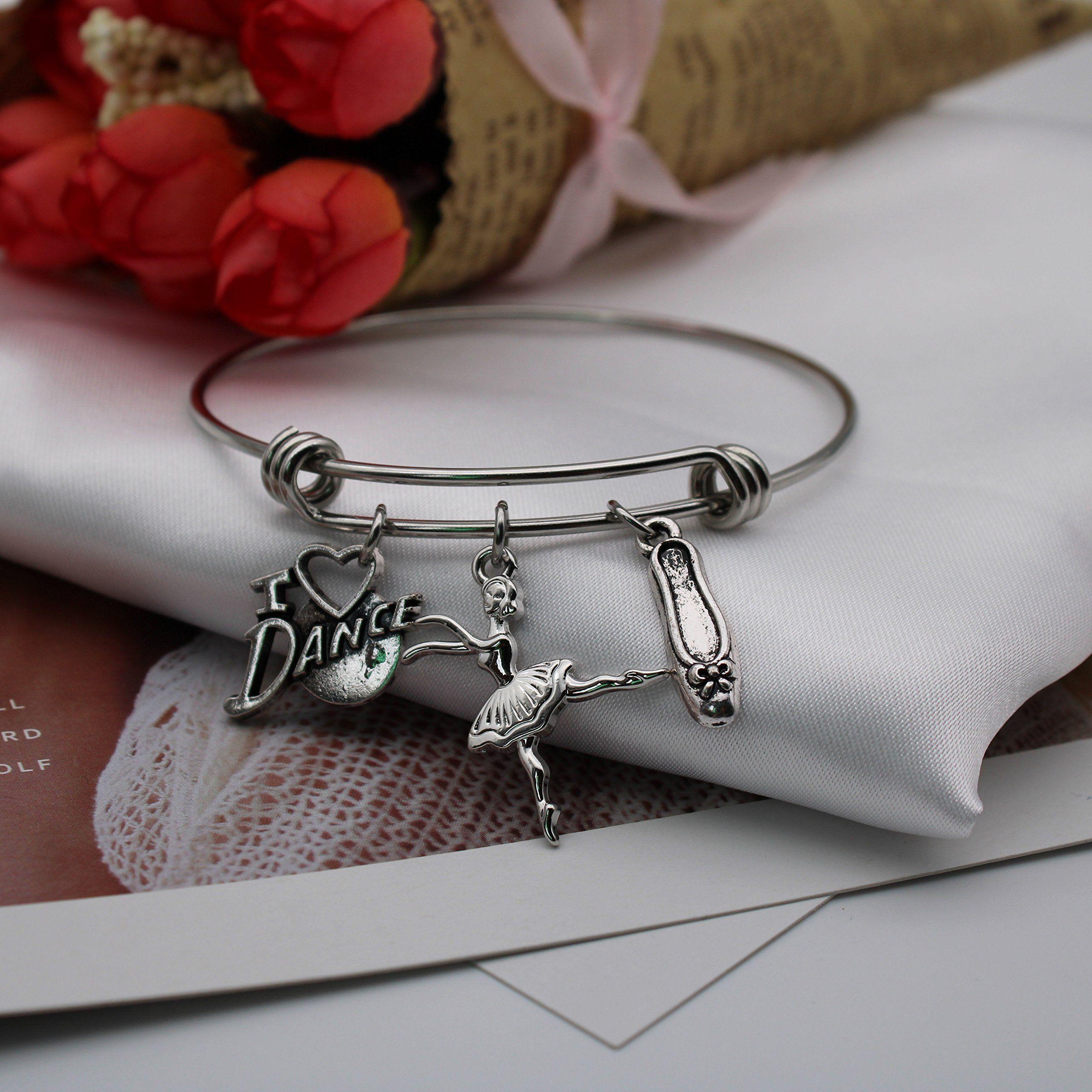 Ddrich ballet bracelet ballerina charm bracelet dancer