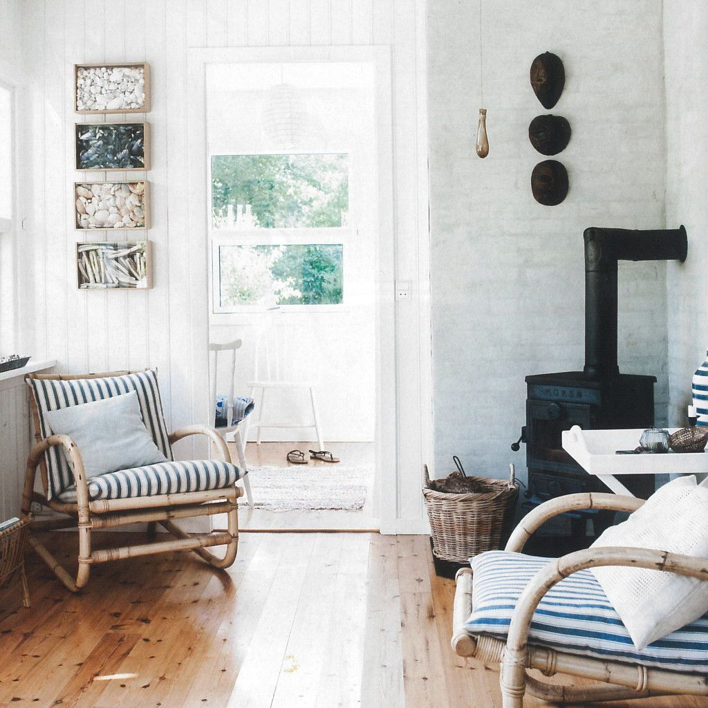A Simple Danish Summer Cottage is part of Home Accessories Styling Simple - When Danish architect Lone Backs and his wife Nels Rasmussen want to escape from their busy lives, they only have to drive 25 minutes to experience thire much desired peace and tranquility  Lone and Nels have spent 10 years lovingly renovating their little cottage in Ellinge Lyng at Sejero Bay  They intentionally kept the design simple and primitive  They wanted a sense of freedom from everyday worries  The minicottage is an oasis that can actually be lived in and used  The furniture reflects fleamarket finds and objects collected over years  The atmosphere is cozy and simple  There is a small minikitchen  The outside bathroom (which they consider a charming attribute) is primitive, using solar panels to heat the water  There are two terraces that allow the small cottage to feel expansive  They are used as extra living space for sleeping and entertaining under a sail  This slightly primitive mini summer cottage is the perfect place to disconnect and enjoy a simple way of living  Sources Bolig Magasinet   Arkitekterne as   My Scandinavian Home   Photos Tia Borgsmidt