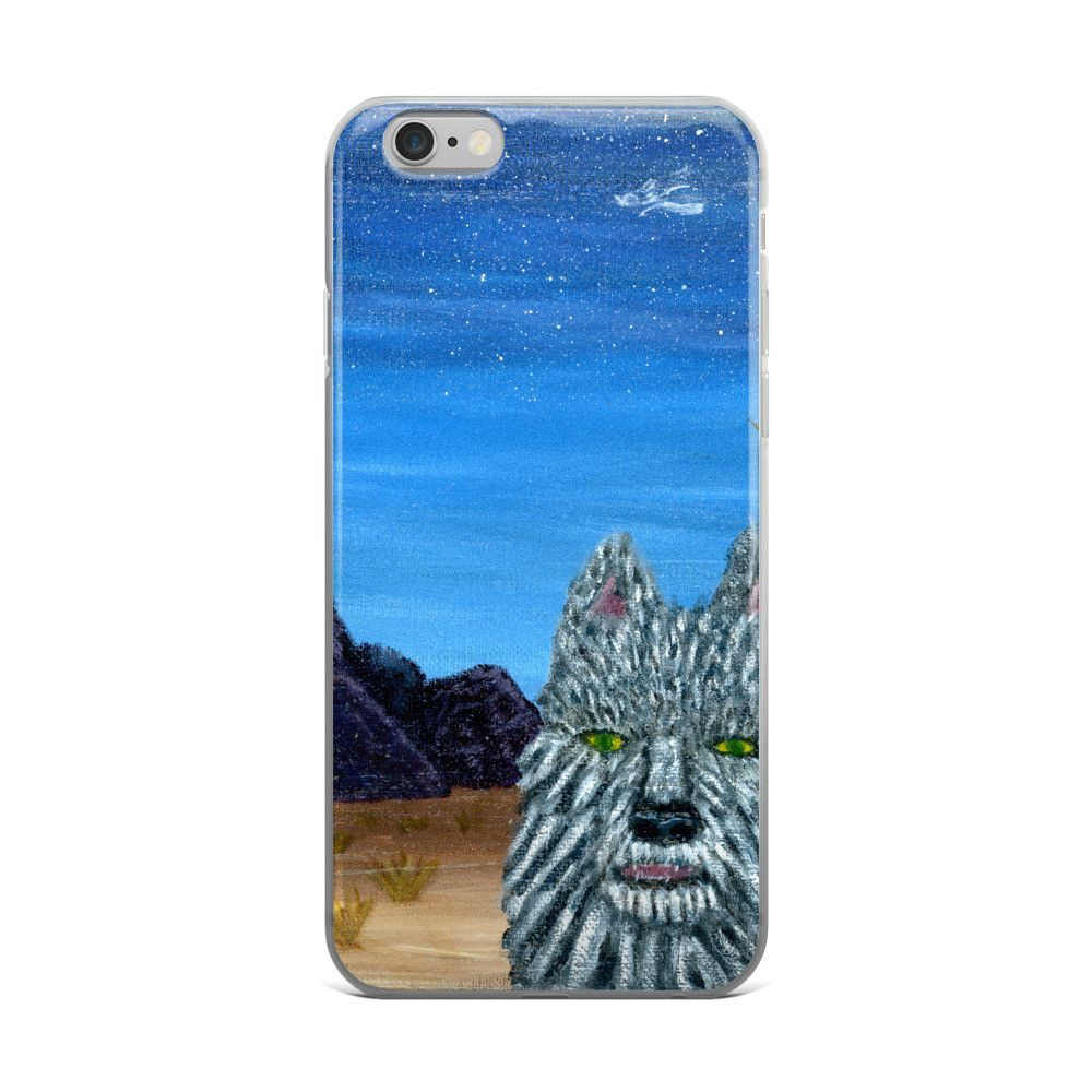 Desert Night Wolf iPhone Case