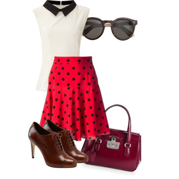 A fashion look from February 2015 featuring Glamorous blouses, Dolce&Gabbana skirts and Cole Haan pumps. Browse and shop related looks.