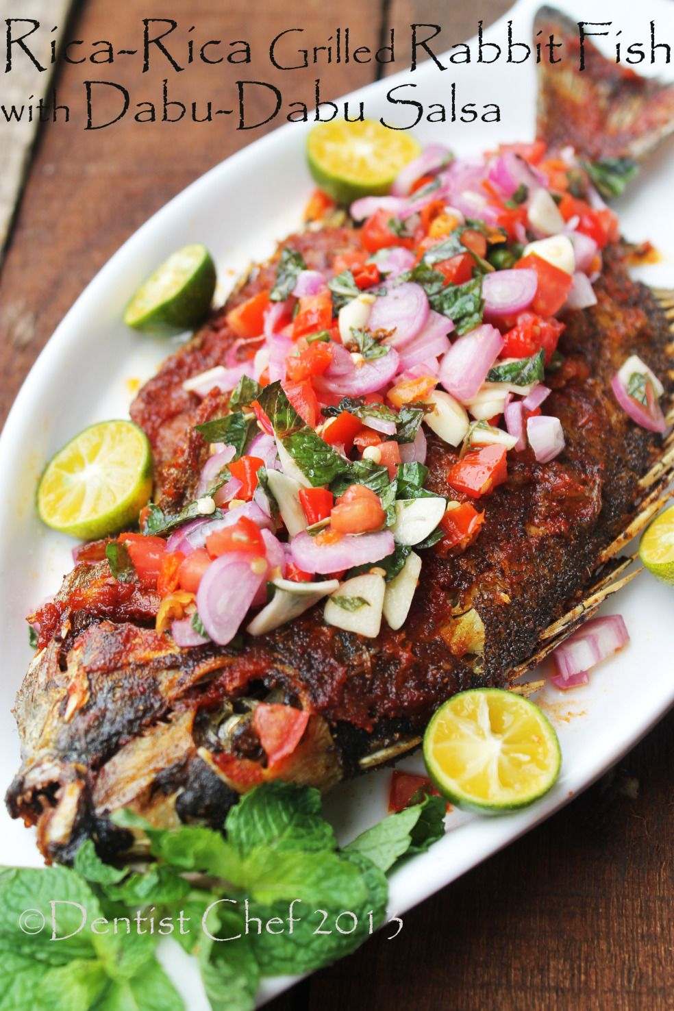 Ikan Baronang Bakar Bumbu Rica Rica Sambal Dabu Dabu Grilled Rabbit Fish With Spicy Rica Rica Dabu Dabu Salsa Resep Masakan Pedas Resep Ikan Resep Masakan Asia