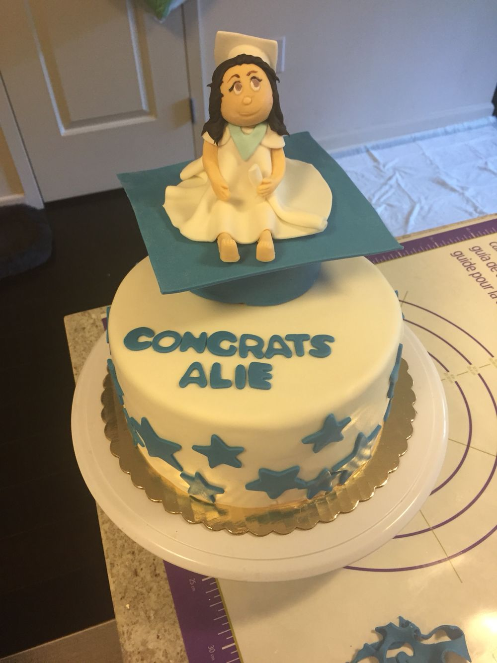 Graduation Cake Fondant Covered Graduation Cap Fondant Graduate Karen Davies Face Mold Graduation Cakes Cake Mine Cake
