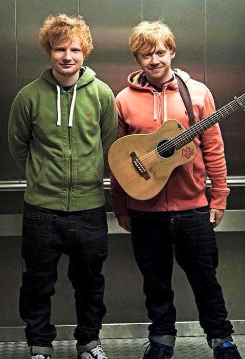 Rupert And His Brother Aka Ed Sheeran Ed Sheeran Rupert Grint Rupert