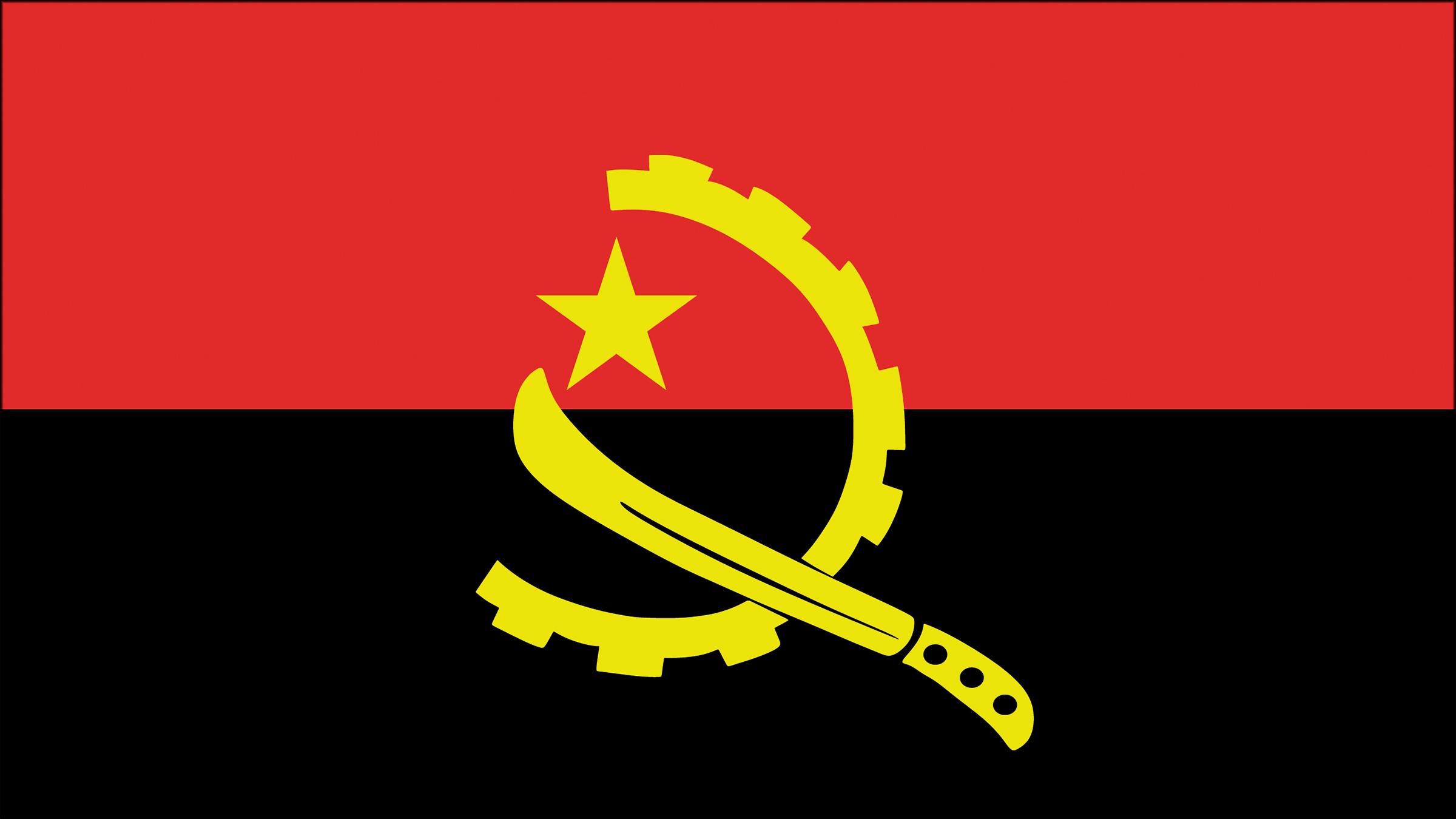 Bandera De Angola Banderas Africa Negra Escudo De Armas