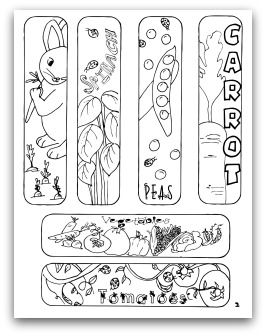 free vegetable garden coloring books printables bookmarks and other activities for children to learn about vegetables and gardening