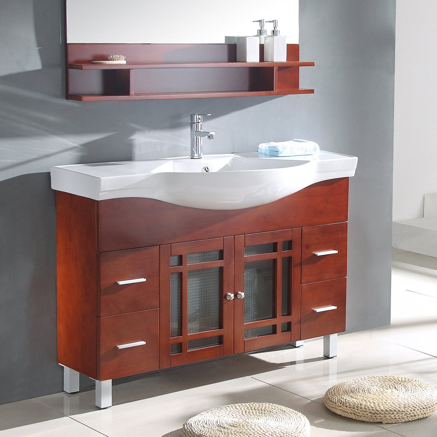 Narrow Depth Bathroom Vanity Wooden Bathroom Vanity Narrow
