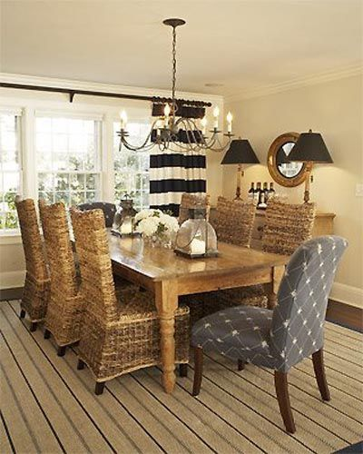 Nice Coastal Dining Room Decor Ideas