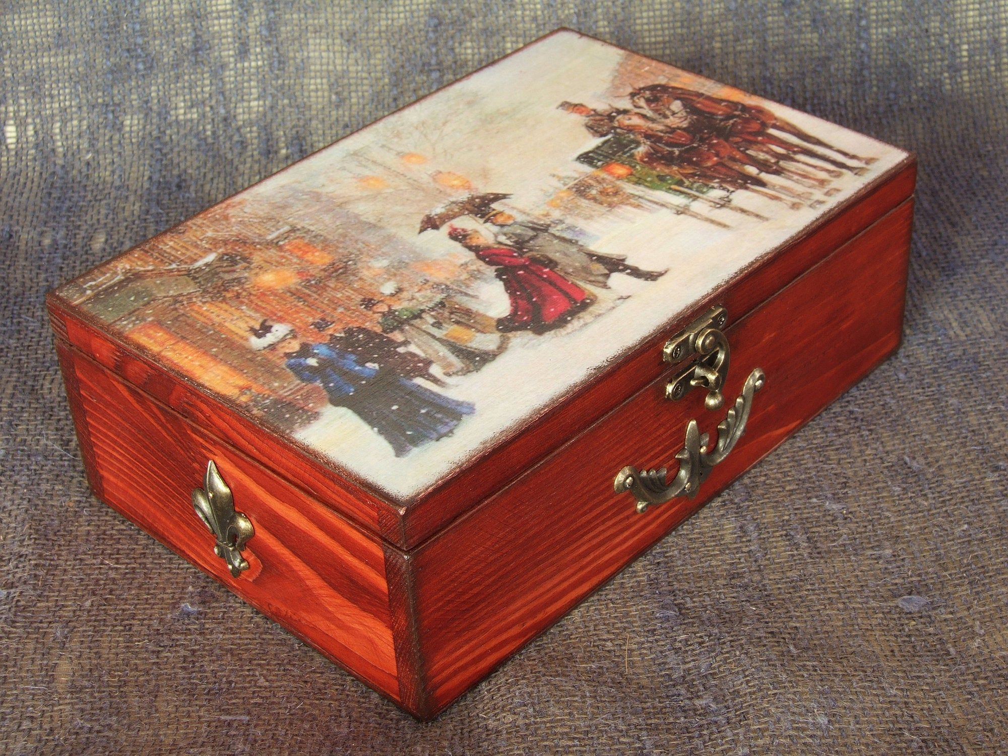 Beautiful Vintage Jewellery Box By Livvysloft On Etsy Painted Jewelry Boxes Jewelry Box Diy Jewelry Box Makeover