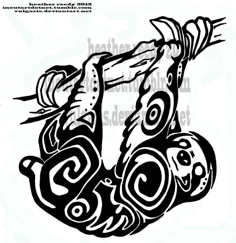 tribal sloth tattoos pinterest sloth tattoo and sloth tattoo. Black Bedroom Furniture Sets. Home Design Ideas