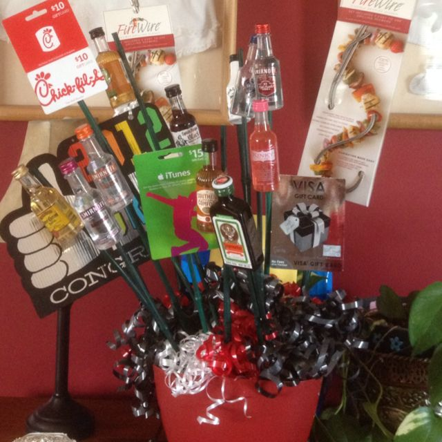 Man Bouquet Take A Flower Pot From Target Gardening Skewers From