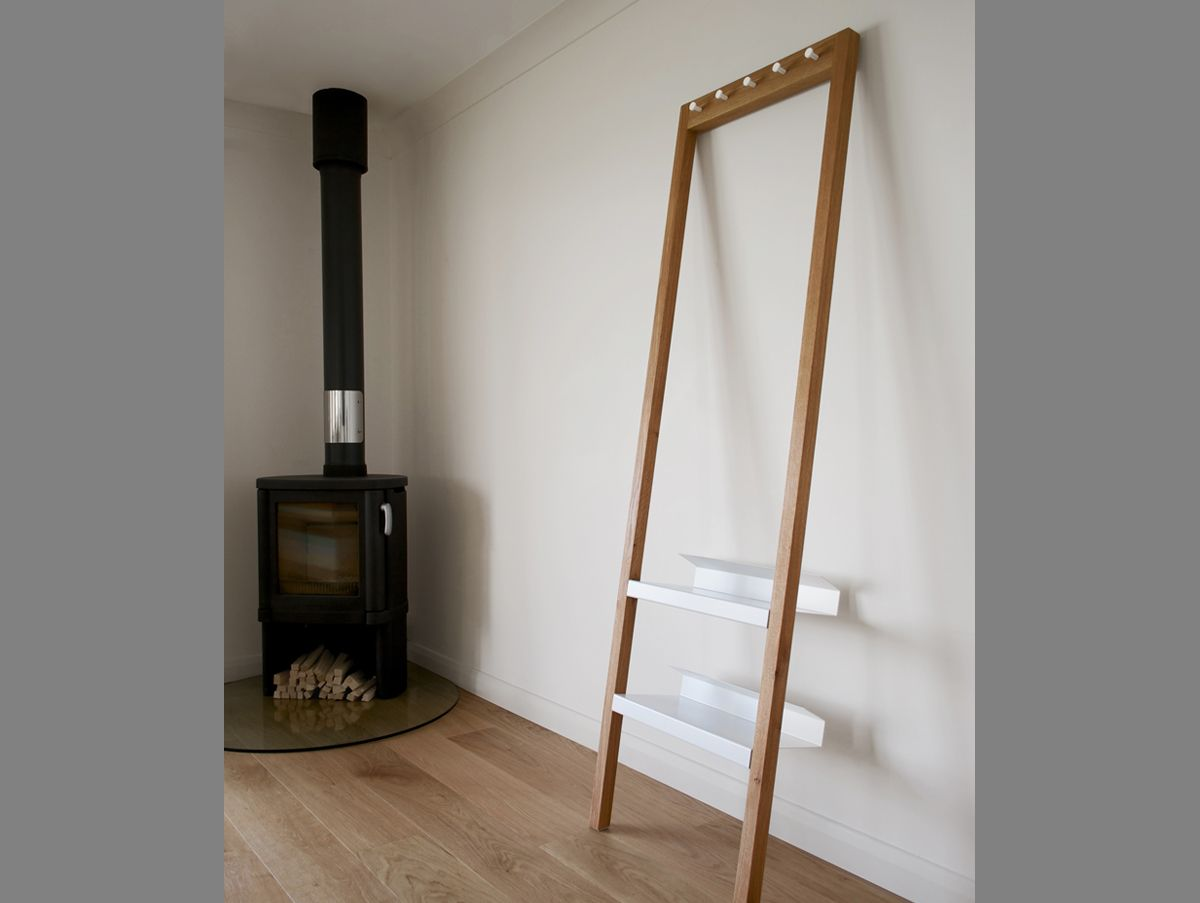 Storage for narrow hallway  Tilt leanto coat hanger by Really Well Made  edison  Pinterest