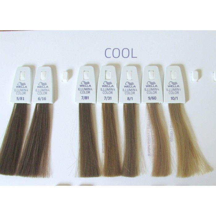 Wella Illumina 7 81 Light Ash Brown Hair Color Hair Color Chart