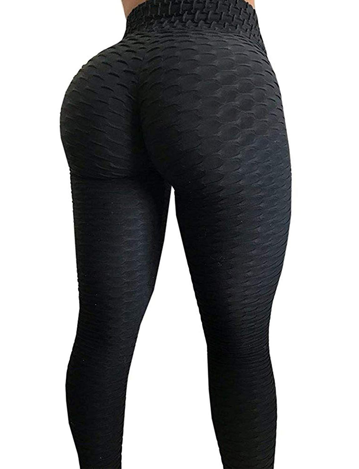 c12e4e9f12 SEASUM Women's High Waist Yoga Pants Tummy Control Slimming Booty Leggings  Workout Running Butt Lift Tights S