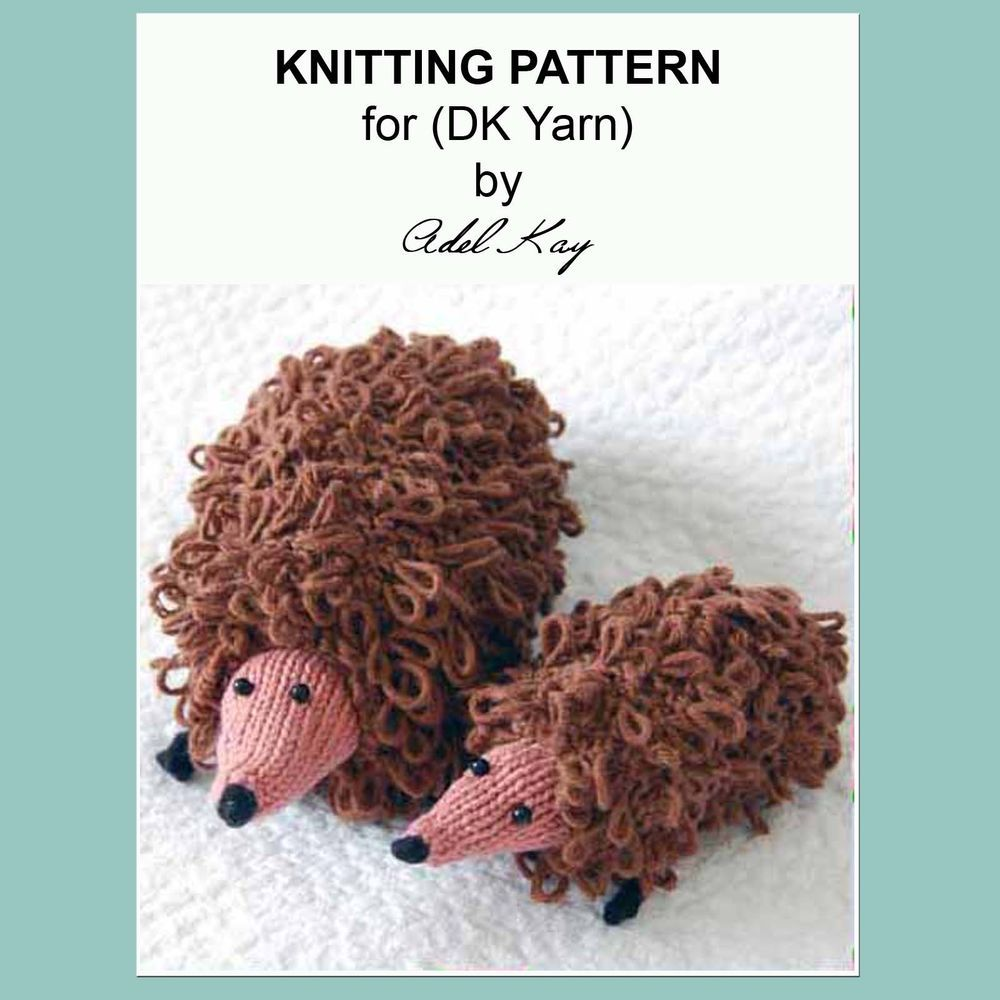Knitting Pattern Lily Mum Baby Hedgehog Animal Craft Make A