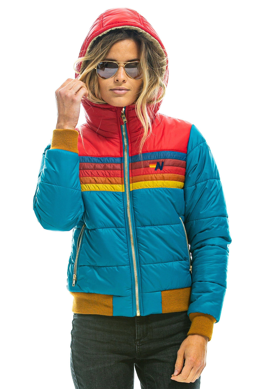 Women S Trekker 2 Hooded Puffer Jacket Ocean Depths Blue Puffer Jackets Jackets Women [ 3000 x 2000 Pixel ]