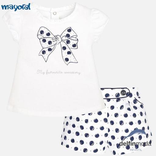 7d0163a6a Conjunto de bebe para niña MAYORAL topos