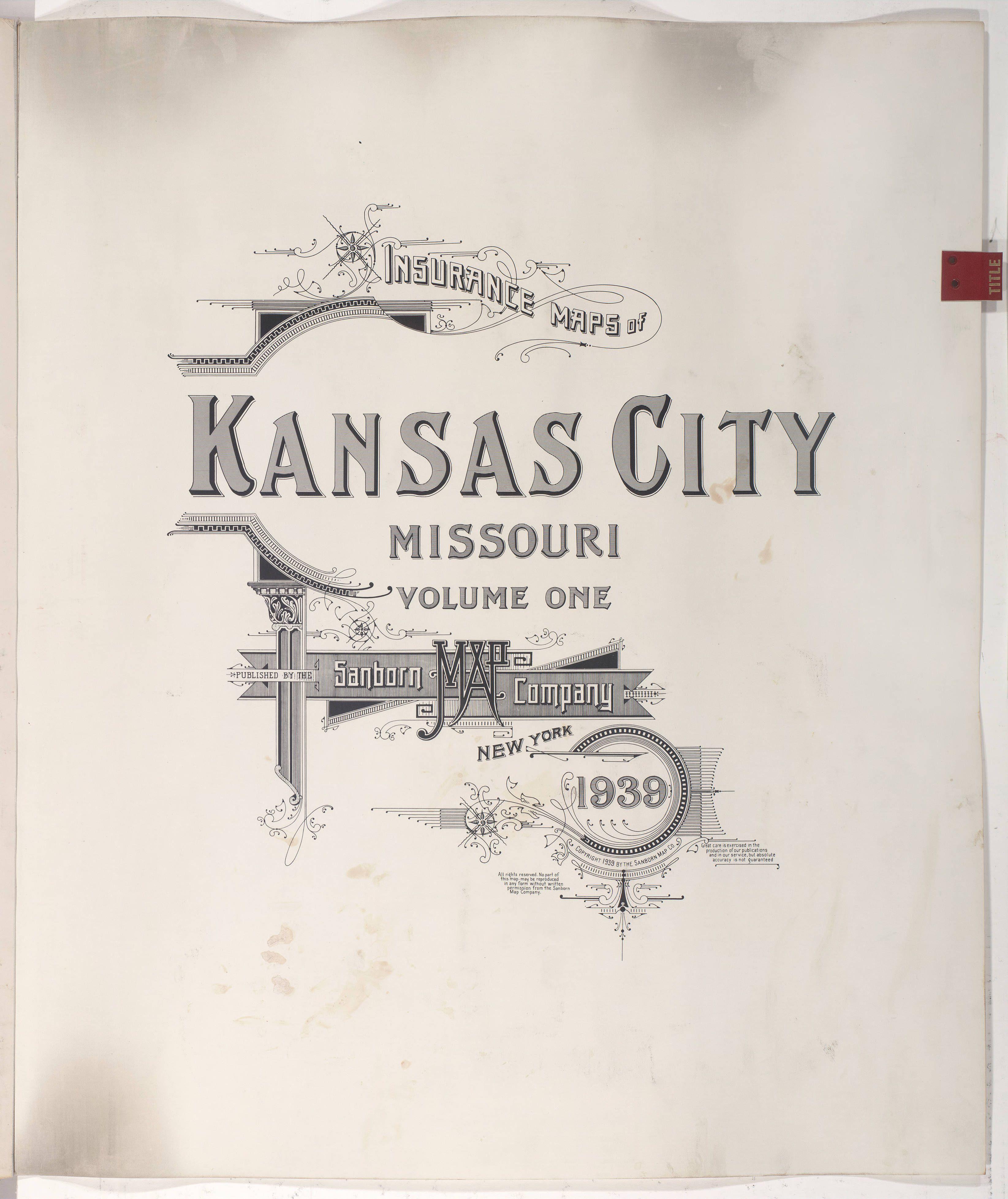 Sanborn Insurance Map Missouri Kansas City 1939