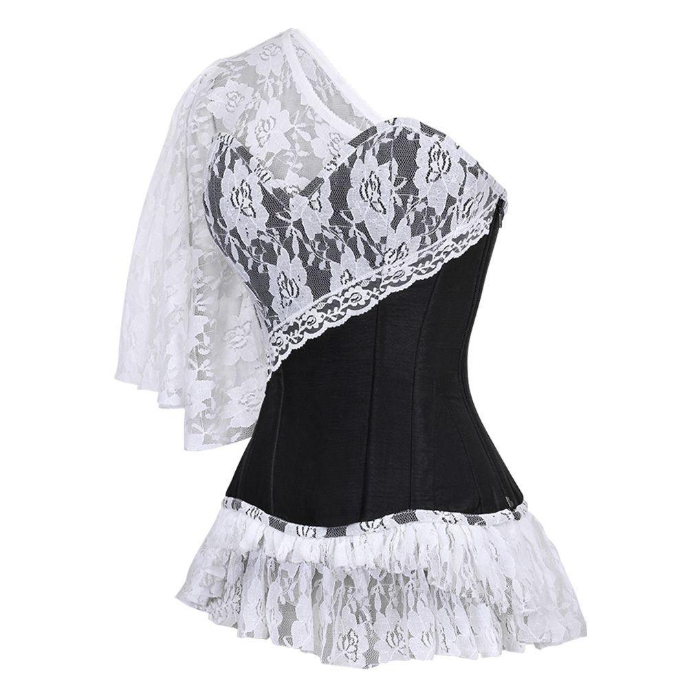 Laced cloud black corset vixen black corset and violets
