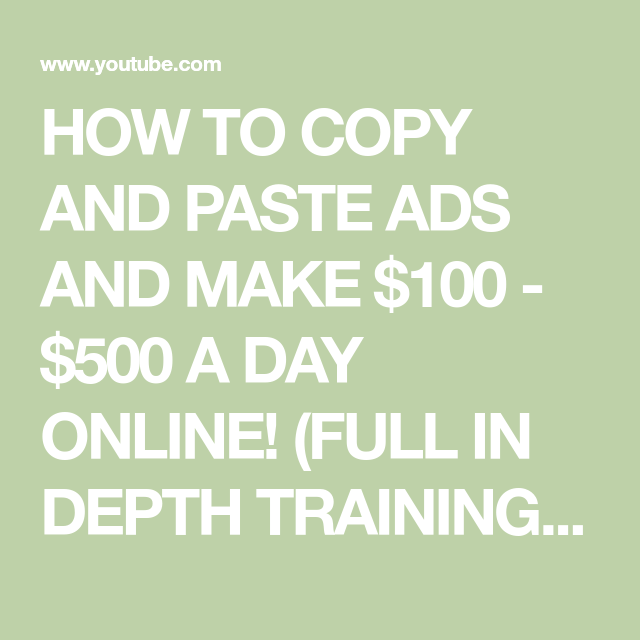 How To Make Money Copying And Pasting Ads