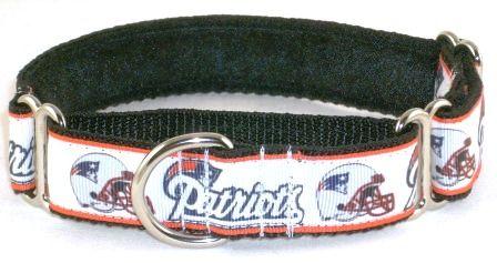 ab6fcd0ea New England Patriots martingale dog collar
