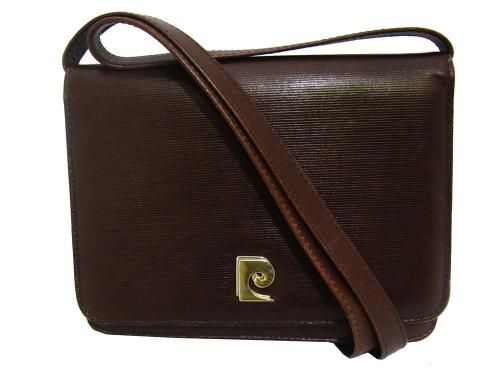 Pierre Cardin 1970's brown leather box bag