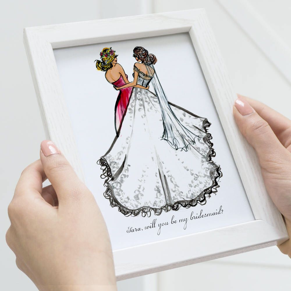 Personalized Bridesmaid Gift, Will You Be My Bridesmaid
