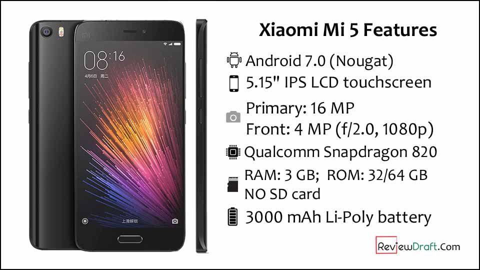 Xiaomi Mi 5 Price in Bangladesh, Full Specification | Mobile