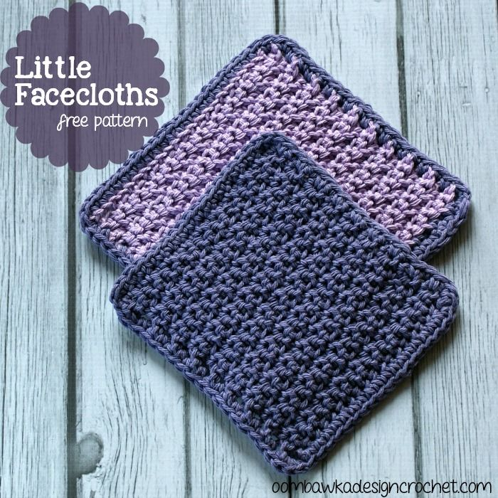 Little Facecloths In Two Sizes Free Crochet Patterns Free Crochet