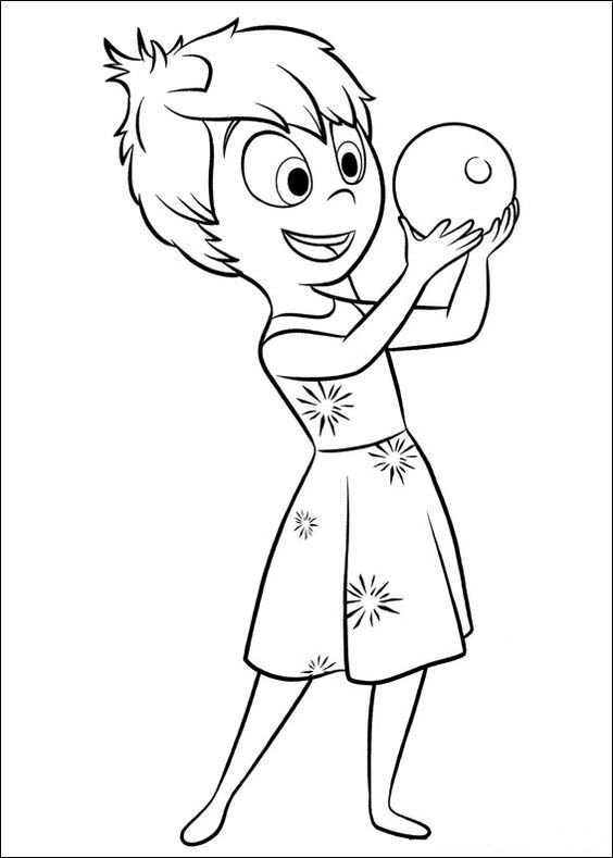 Inside Out Coloring Pages Disney Coloring Pages Pinterest