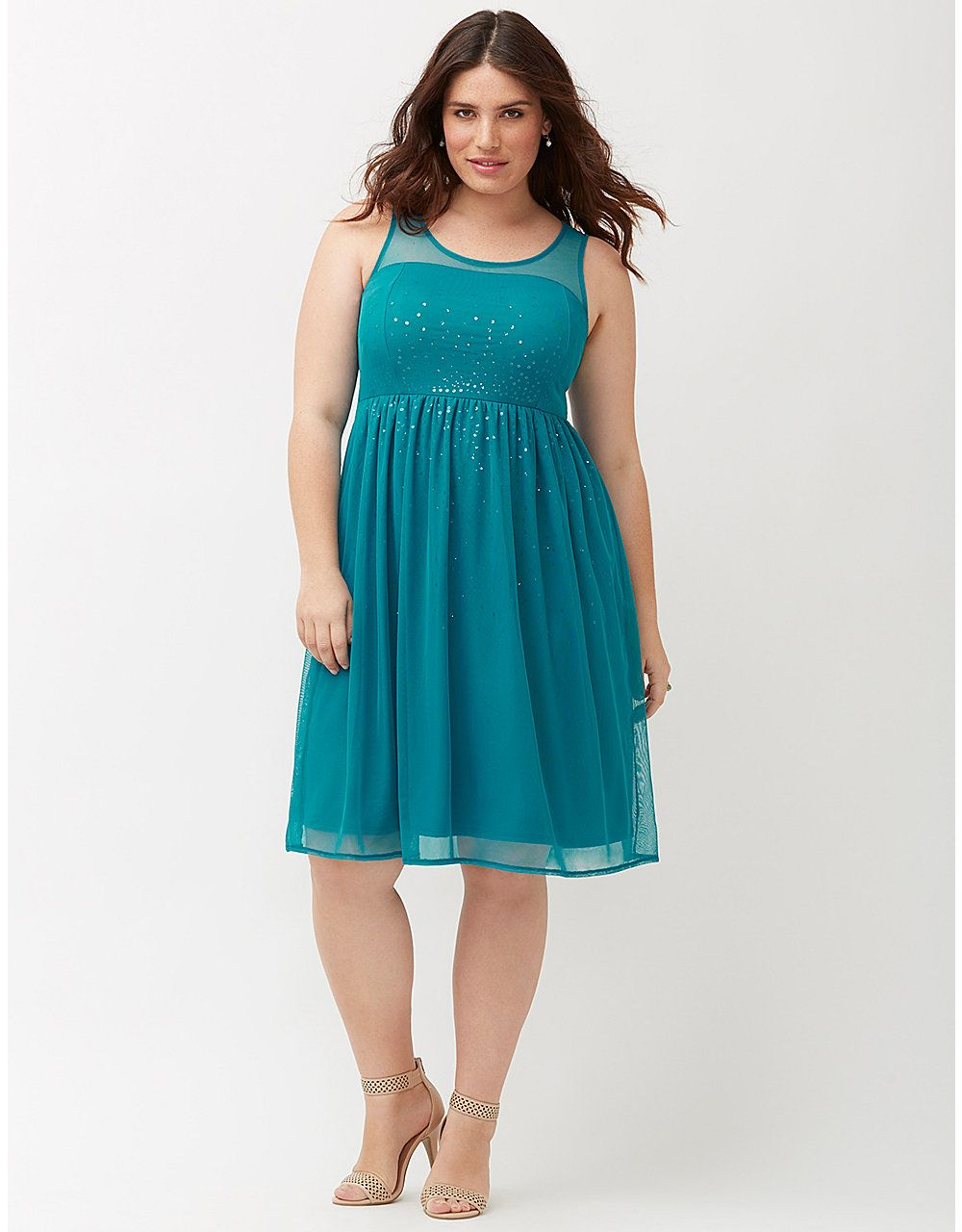 Plus size Sequined illusion dress by Lane Bryant | Lane Bryant | My ...