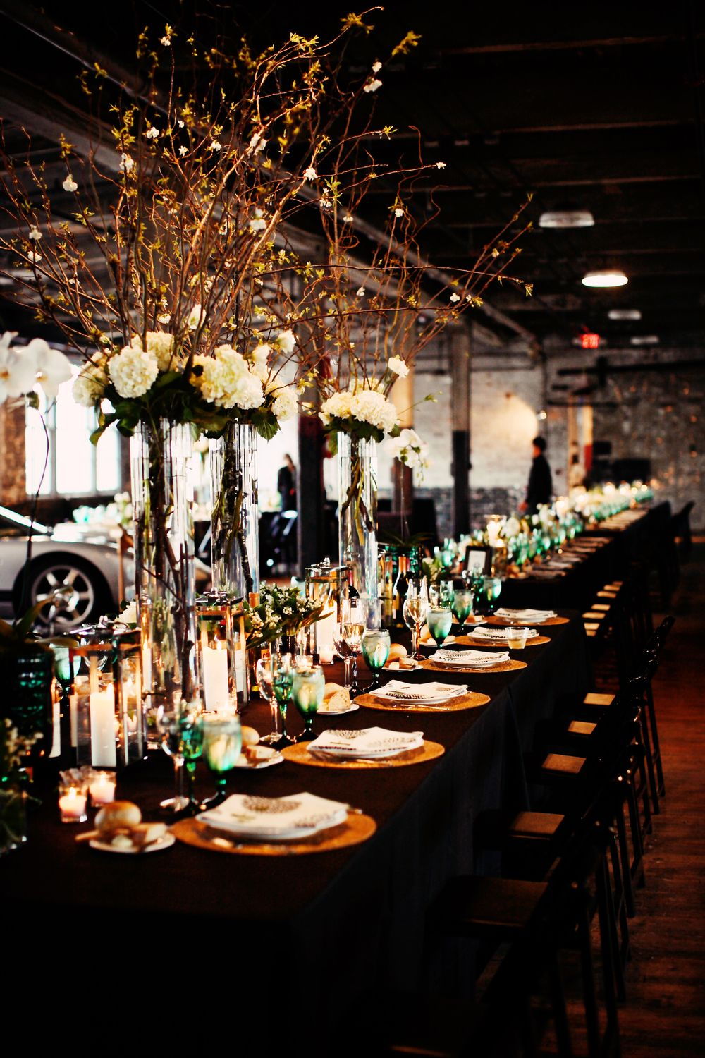 Ford Piquette Avenue Plant Wedding Head Table Flowers By Gabrielle