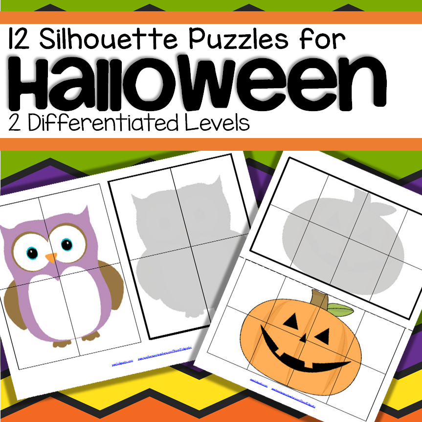 Halloween Shadow Matching Puzzles Spatial Awareness Halloween