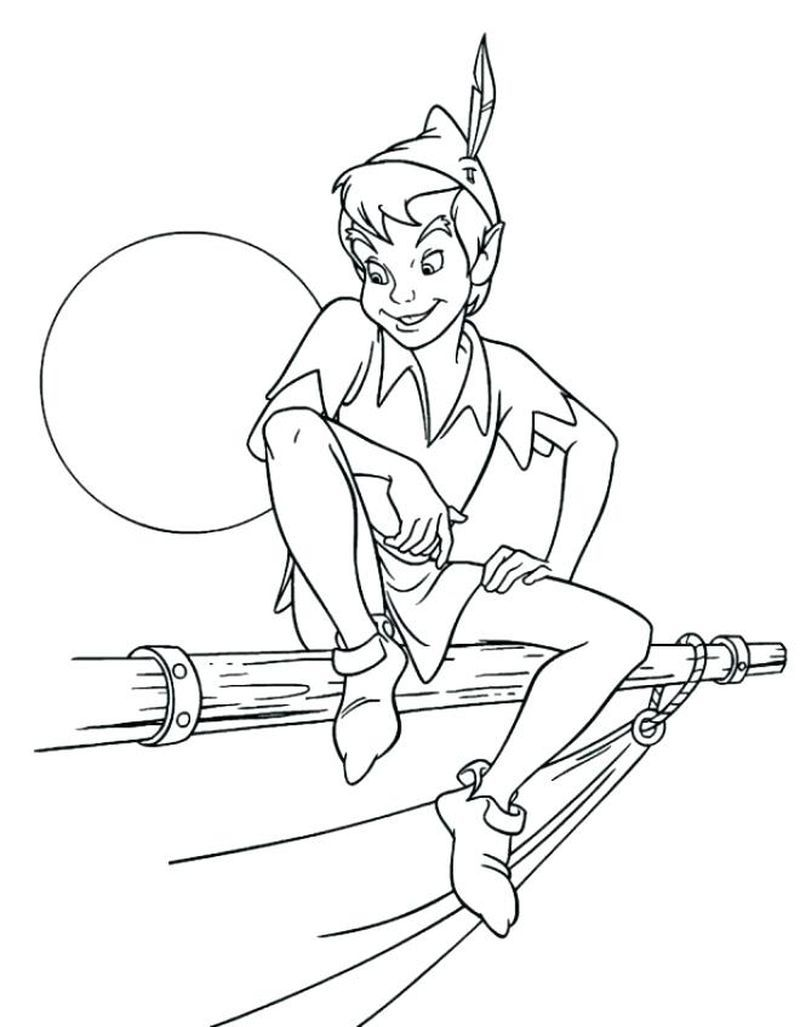 Wendy Coloring Pages Pdf Peter Pan Is The Name Of A Boy With A Distinctive Character Tinkerbell Coloring Pages Disney Coloring Pages Peter Pan Coloring Pages