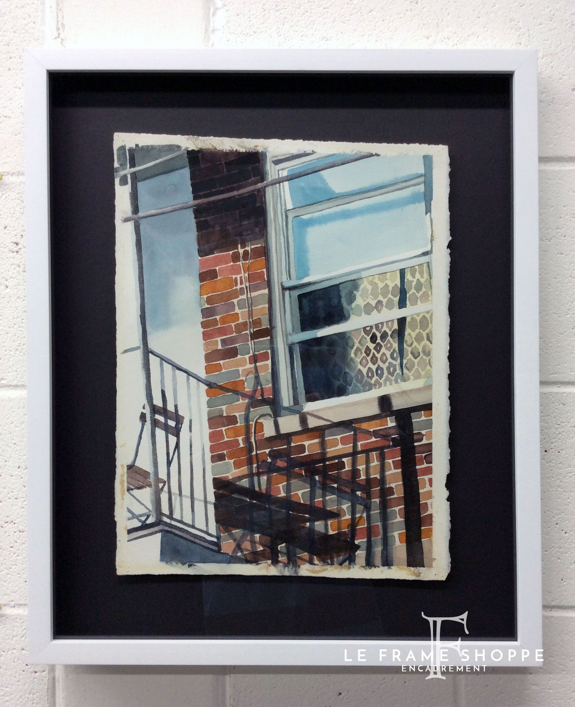 Loving The Contrast For This Beautiful Watercolours Recessed Frame Design,
